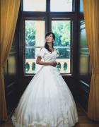 wiktoriańska suknia ślubna 1865...