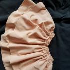 Spodniczka falbanka rozkloszowana na gumie Pudrowa