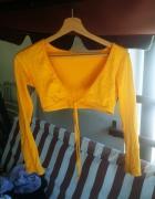 bawełniane żółte bolerko