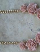 H&M naszyjnik kolia łańcuch róże