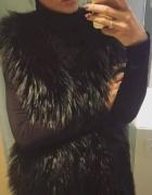 Piękna długa futrzana kamizelka futro długi włos