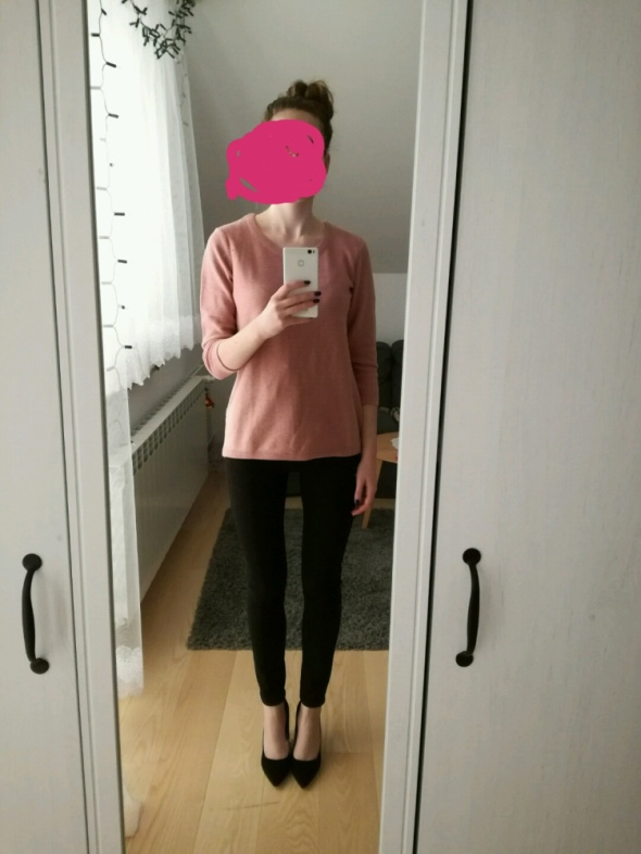 Do pracy Łososiowy sweterek
