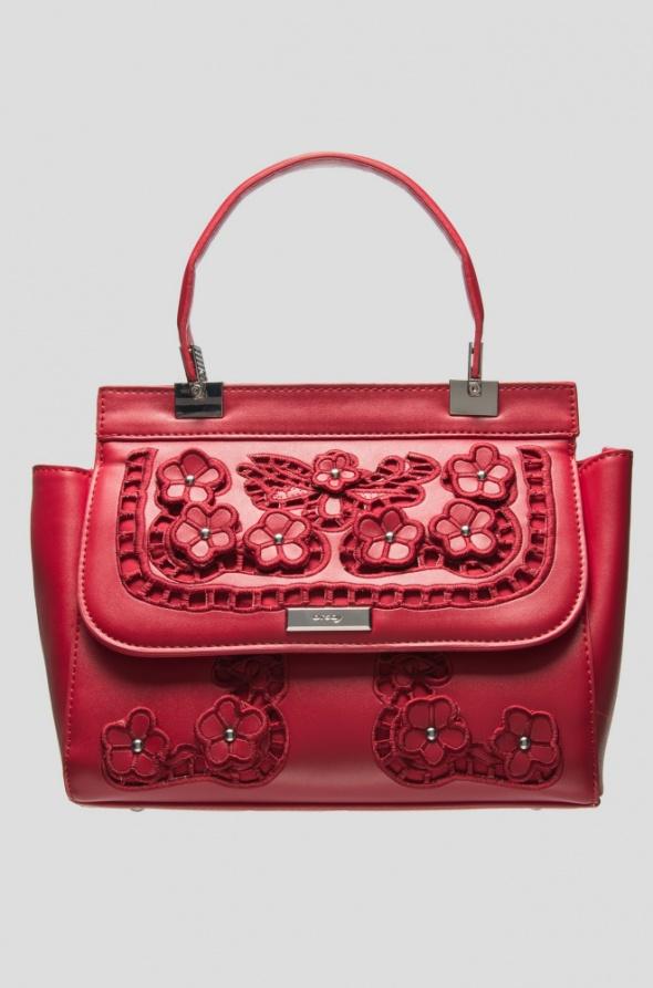 Dodatki Torebka kuferek Orsay czerwona haft