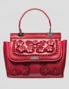 Torebka kuferek Orsay czerwona haft...