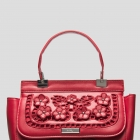 Torebka kuferek Orsay czerwona haft