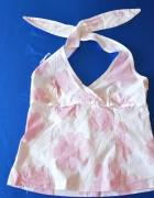Bluzeczka zawiązywana na szyi pastelowe kolory