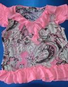 Przewiewna różowa bluzeczka