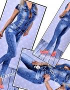 Kombinezon jeans zdobiony