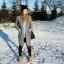 Długi sweter zimą...