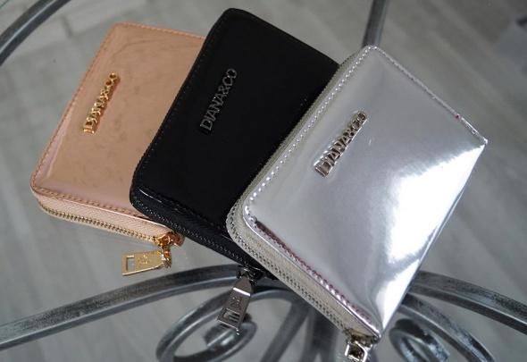 f07373201457a Metaliczny portfel srebrny nowy w Portfele - Szafa.pl