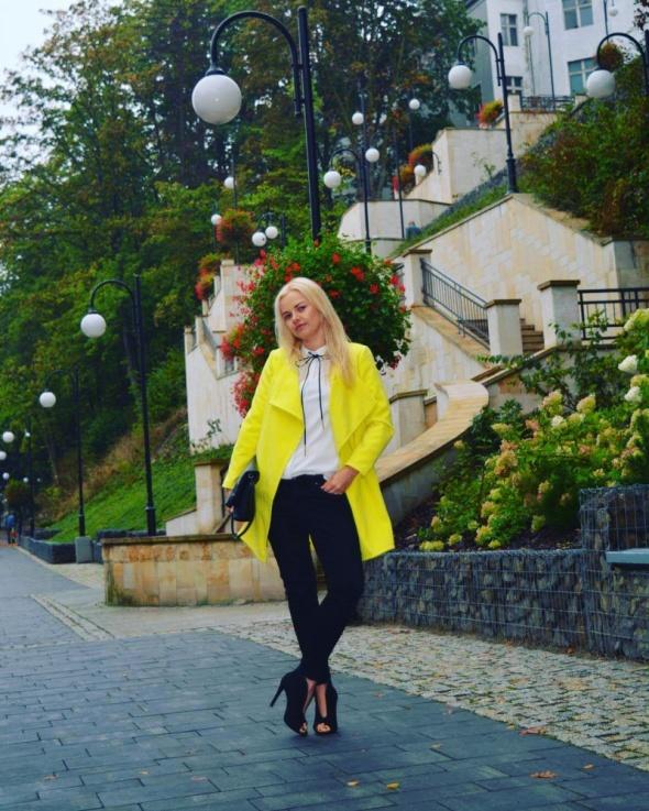 Codzienne Żółty płaszcz