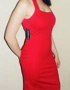 Sukienka elegancka 38 bez rękawów kolor niebieski