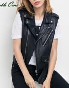 Kamizelka skórzana Amisu New Yorker H&M Zara i inn...