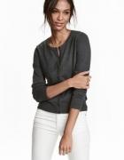Szary sweter zapinany na guziki rozmiar xs H&M