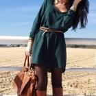 Piękna sukienka z paseczkiem