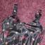 St Bernard satynowa sukienka maxi 38 granatowa