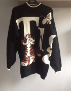 oldschoolowy sweter z tygryskiem