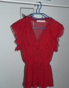 zwiewna czerwona bluzka