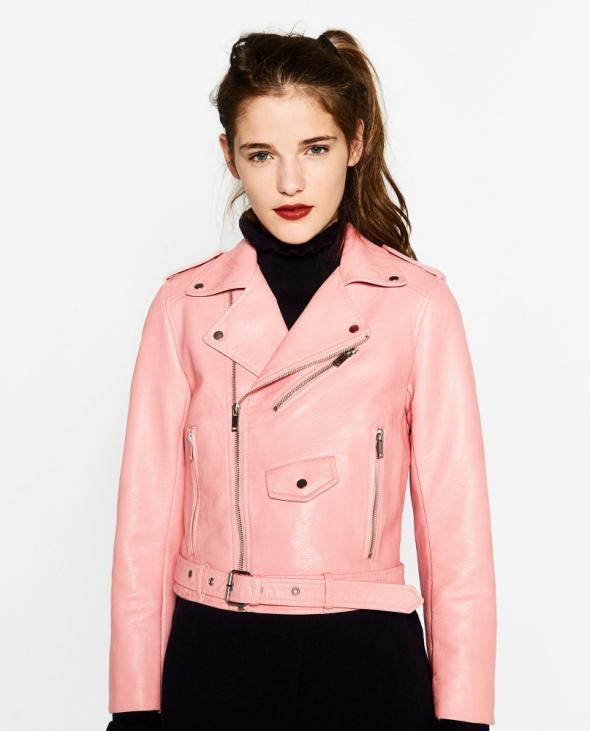 Zara różowa ramoneska 36 38
