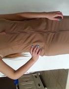 sukienka nude zip