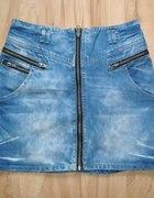 Jeansowa spódniczka zip