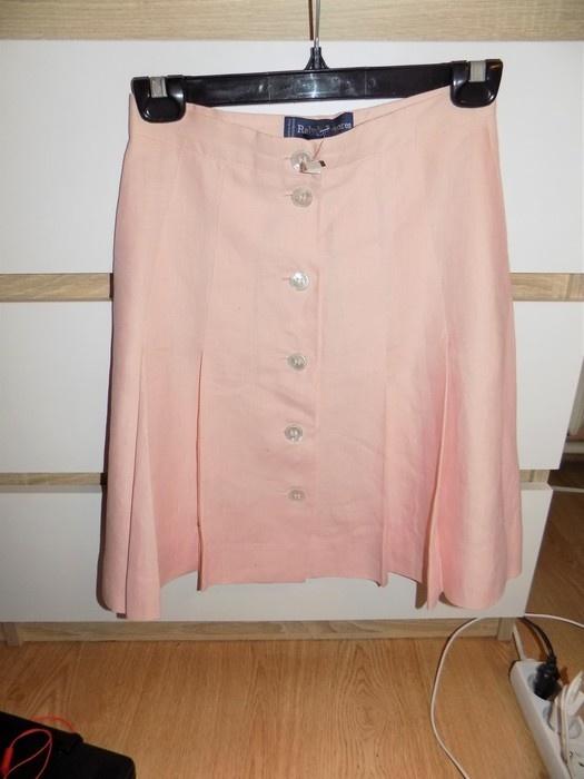 Spódnice Ralph Lauren szeregowa spodnica pudrowy roz NOWA