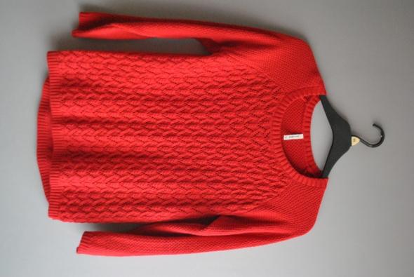 Swetry czerwony koronkowy sweter L