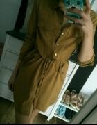 szmizjerka sukienka musztardowa Reserved
