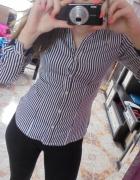 h&m koszula w paski blogerska