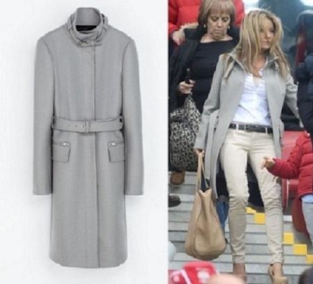 Ubrania Stalowy płaszcz ZARA Rozenek