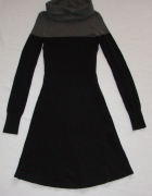 ISABEL DE PEDRO sukienka tunika czarna szara XS S