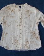 GAP elegancka biała koszula kwiaty M L