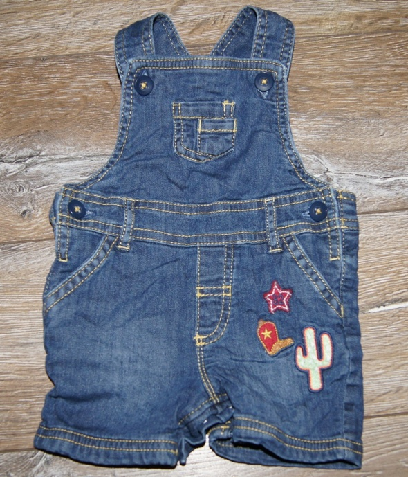 Spodnie i spodenki Krótkie spodenki ogrodniczki jeansowe 62 niemowlę