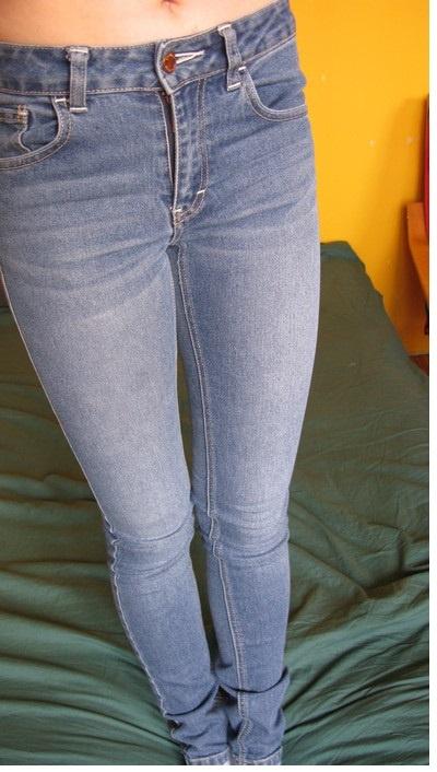 Spodnie Spodnie z wysokim stanem rurki XS XXS ginatricot