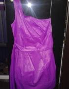 Asymetryczna River Island fioletowa sukienka 36