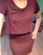 Sukienka New Look M L 38 40 śliwkowa fioletowa