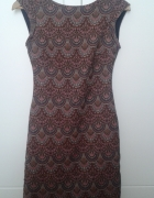 Wzorzasta sukienka ZARA