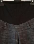 Ciążowe spodnie jesienne szary melanż S 36