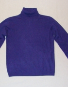 ISLE fiolet sweter golf pure cashmere S