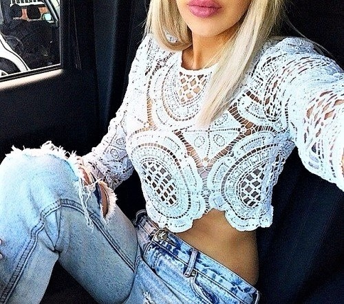 koronka & jeans...