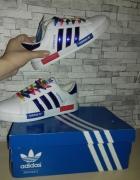 Adidas superstar holograficzne białe niebieskie