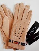 Rękawiczki Mohito r S beżowe i szmaragdowe