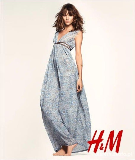Suknia maxi długa boho orientalna H&M XS S