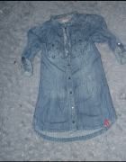 asymetryczna koszula jeans XS