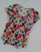 Dzianinowa Bluzka Zara W&B Collection Aztec