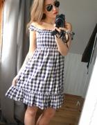 Sukienka krata kratka