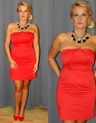 Czerwona sukienka hm