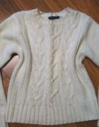 Jasny kremowy sweter sweterek Atmosphere 38 M...