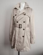 beżowy płaszcz ORSAY jesień wiosna