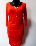 Czerwona dopasowana sukienka r L